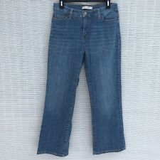 Levis 512 Perfectly Slimming Boot Cut Blue Jeans Women's 12 Short 30 X 28