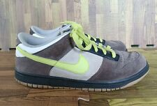 Nike Dunk Low 6.0 SB 314142-072 Midnight Fog Volt White Mens Size 10