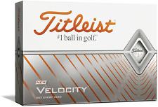 One Dozen Titleist Velocity Golf Balls Longest with Speed Distance,White