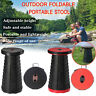 Portable Folding Stool Seat Retractable Plastic Outdoor Camping Fishing Chair UK