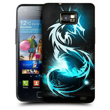 CUSTODIA COVER per SAMSUNG GT i9100 GALAXY S2 TPU BACK CASE DRAGONE ILLUMINATO