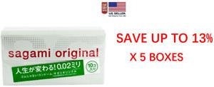 Sagami Original 002 10pcs Ultra Thin Condom 0.02 mm (5 BOXES) - US seller