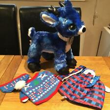 BUILD A BEAR FACTORY RARE & HTF TINSEL REINDEER & 2 OUTFITS ALL BNWT