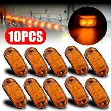 10x Amber Marker Side Led Trailer Truck Lorry Recovery Position Lights Lamps 12v