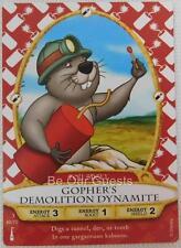 Disney Sorcerers of the Magic Kingdom Card 46 Gopher's Demolition Dynamite New