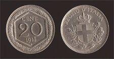 """20 CENTESIMI 1918 ESAGONO PARZIALMENTE RIGATO - VITTORIO EMANUELE III """"OTTIMA"""""""