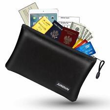 """Jundun Fireproof Money Bag, 10.6""""x6.7"""" Fireproof Waterproof Cash Bag with Zipper"""