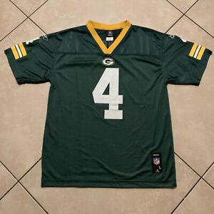 Reebok Green Bay Packers Brett Favre 4 NFL Jersey Youth Large 14-16 Adult Medium