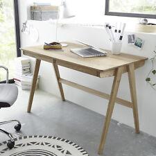 Schreibtisch Delia Computertisch Tisch Asteiche massiv mit Schubkästen 120 cm