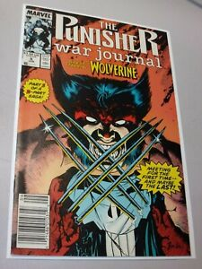 Punisher War Journal #6 Key Comic 1ST PUNISHER/WOLVERINE BATTLE MARVEL