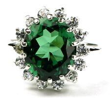 Nano Russian Emerald, 925 Sterling Silver Ladies Ring, SR283-Handmade