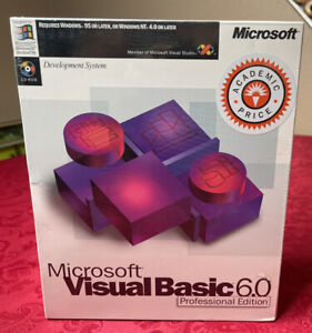 Microsoft Visual Basic 6.0 Enterprise Edition Retail Package NEW