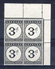 Grenada 1906 3d Postage Due MNH/MLH block of 4