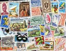 Cameroun 600 timbres différents oblitérés