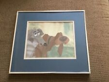DISNEY Orig Prod Celluloid, Art Corner of Disneyland 1955 LADY & THE TRAMP, RARE