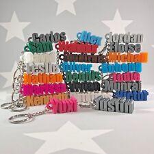 Personalised Keyring - Keychain - 3D Printed - School Bag - Name Tag-Pencil Case