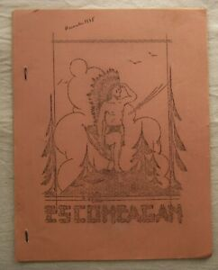 Vintage Civilian Conservation Corps Newsletter Escoheag Rhode Island Dec 1938