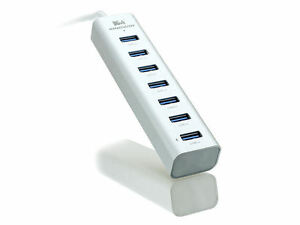 Kingwin KWZ-700 Aluminum 6-Port USB 3.0 Hub +1 IQ Smart Charging Port