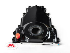 LS Turbo Oil Drain Timing Cover -10AN Passenger Gloss Black Powdercoat LSX