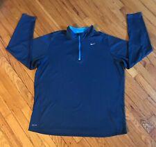 Nike Running Dri-Fit Men's XXL Blue 1/4 Zipper