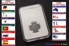 1 x New High Quality Coin Slab Holder (20mm) Storage Case with Free Extra Label