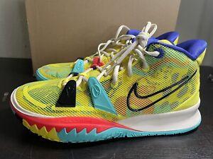 Nike Men's Kyrie 7 1 World 1 People Yellow Strike sz 10 [CQ9326-700]