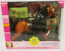 "2000 NRFB Mattel BRUSHABLE BEAUTIES ""DIXIE"" Barbie Horse in Sealed Box"