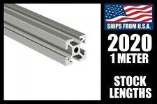 2020 x 1000mm Aluminum T-Slot Extrusion, 20mm Meter Stock for CNC/3D Printers