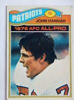 John Hannah #460 Topps 1977 Football Card (New England Patriots) G