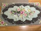 Beautiful Floral Antique Vintage Hand Hooked Wool Rug, 3' by 5'