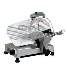 """Premium 10"""" Blade Commercial Deli Meat Cheese Food Electric Slicer Chefs Choice"""