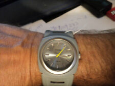 DIESEL Unisex DZ3033 Gray Dial Analog Gray Resin and Leather Band