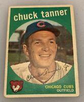 1959 Topps # 234 Chuck Tanner Baseball Card Chicago Cubs