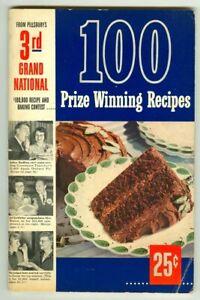 Vintage 1952 PILLSBURY's 3rd Grand National 100 Prize-Winning Recipes Cookbook!