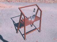 mid-century Danish Modern BAR CART drink trolley COOL!