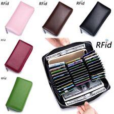 XXL Geldbörse RFID Schutz Nappa-Leder Kreditkartenetui Brieftasche Portemonnaie