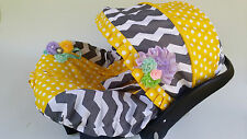 Clearence Sale infant car seat cover canopy cover fit most grey Yellow