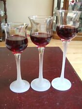 PartyLite/ Set of 3/ tall glass/ tealight/ candle holder/(Reduced