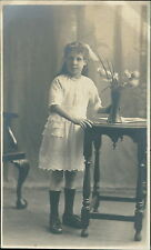 Young Girl Lace Dress Studio Flowers Table   JE.1710
