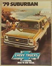 CHEVROLET SUBURBAN TRUCKS USA Car Sales Brochure For 1979 #3814
