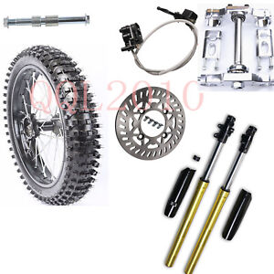 "70/100-17"" Front Wheel Rim Tyre+Triple Tree +Front Fork For YZ85 KX85 RM85 CR85"