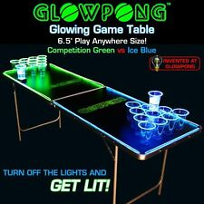 NEW GlowPong Portable Glow Beer Pong Table College Club Bar Party Drinking Game