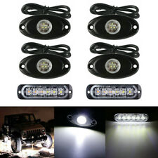 4 9W White CREE LED Rock Light For JEEP Offroad Truck Under Body Trail Rig Light