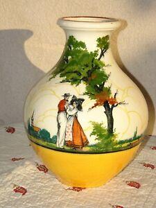 RARE Grand vase 27 cm Saint Jean du Désert Marseille coiffe alsacienne