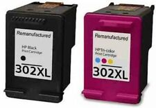 Refilled HP 302XL Black And HP 302 XL Colour Ink Cartridges F6U68AE F6U67AE