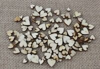 100 Mixed Size Wood Love Heart [5mm-12mm] Wedding Table Scatter decoration Craft