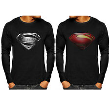 Superman Men's T-Shirts Superhero Marvel Long Sleeve Bicycle Jersey Casual Tops