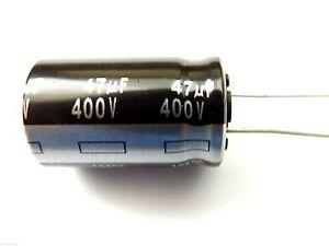 47uf 400v 105c Low ESR Size 25mmx16mm Panasonic EEUED2G470