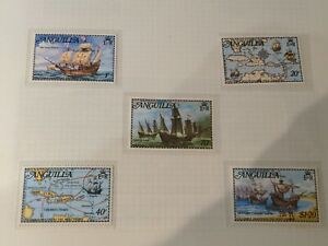 ANGUILLA 1973 COLUMBUS DISCOVERS THE WEST INDIES STAMPS - Unmounted Mint
