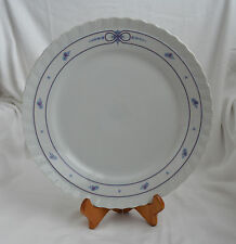 CROWN PORCELAIN WEST GERMANY JAEGER BAVARIA Chop Plate Serving Platter Blue Pink